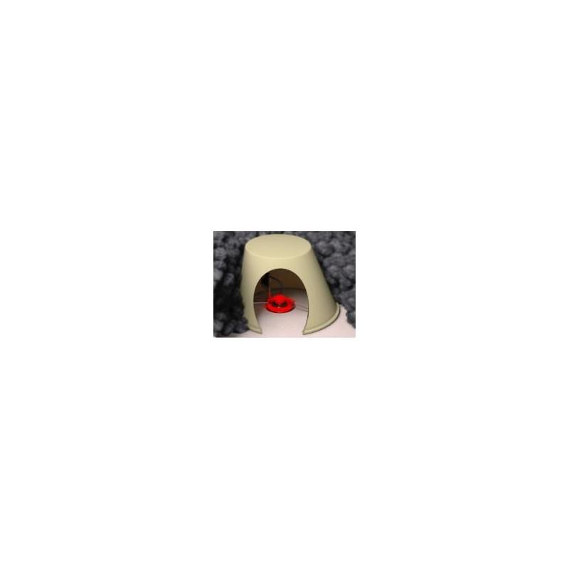 Capot de spot protection électrique avant projection d'isolant en vrac à souffler