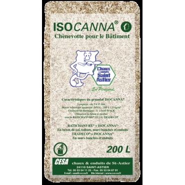 CHANVRE ISOCANNA® paquet de 20 kg ou 200 litres pour chaux chanvre