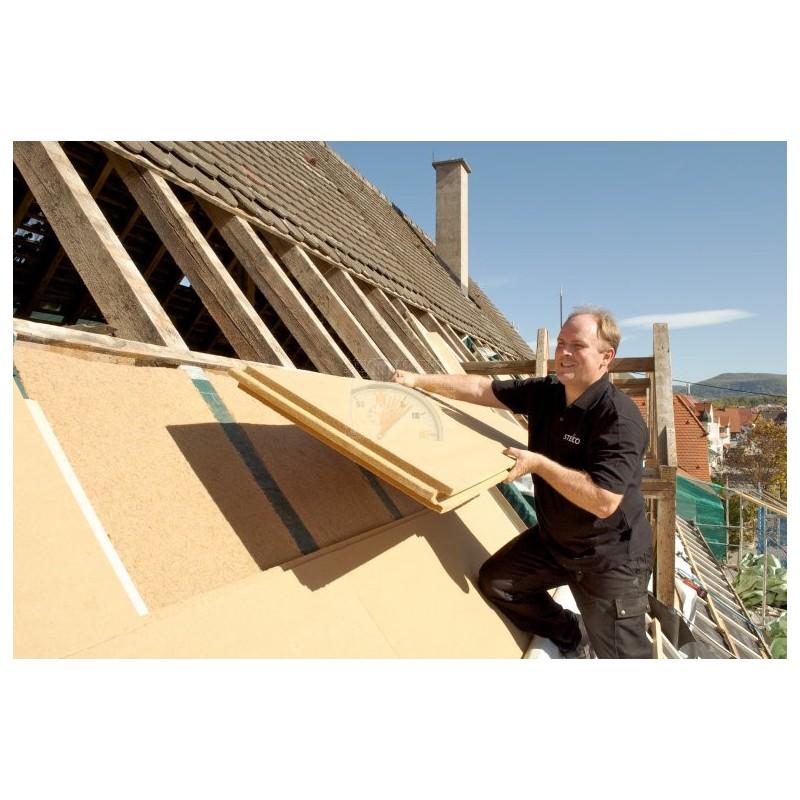 Steico Intégral 60mm isolant pare-pluie et support d'enduit pour le sarking ossature bois et murs maçonnés