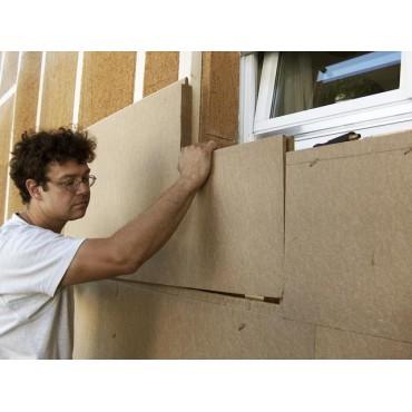 Steico Intégral 100mm isolant pare-pluie et support d'enduit pour le sarking ossature bois et murs maçonnés
