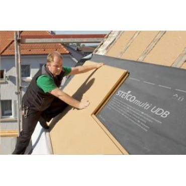 Steico Intégral 140mm isolant pare-pluie et support d'enduit pour le sarking ossature bois et murs maçonnés