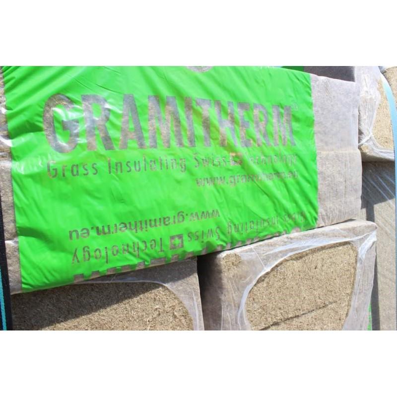 Isolant nature biosourcé écologique Gramitherm 120mm Isolant Herbe des prés