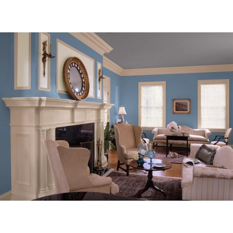 Bleu Grec Peinture écologique Mat Lavable Galtane EOS 2 salon séjour salle à manger