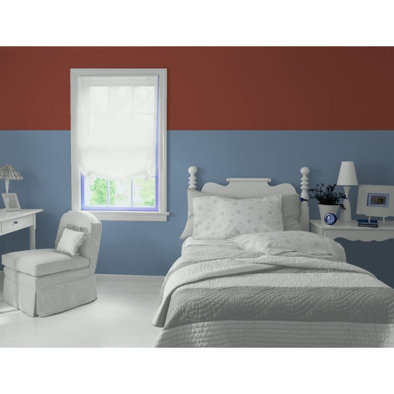 Bleu Grec Peinture écologique Mat Lavable Galtane EOS 2 chambre