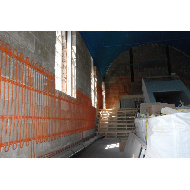Bloc de chanvre Isohemp de 7,5cm pour bâtir des cloisons ou isoler avec mur chauffant