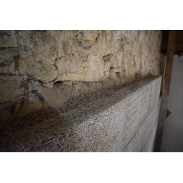 Bloc de chanvre Isohemp de 7,5cm pour bâtir des cloisons ou isoler
