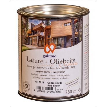 Lasure Oxyde Jaune Écologique Protectrice pour Boiseries, Galtane